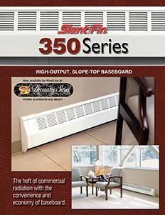 350 series slantfin for Homeowner selection sheet