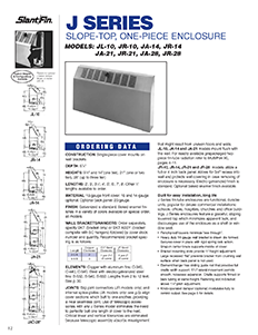 J series slantfin for Homeowner selection sheet