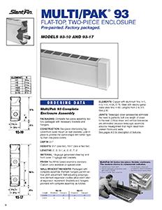 Multi pak 93 slantfin for Homeowner selection sheet