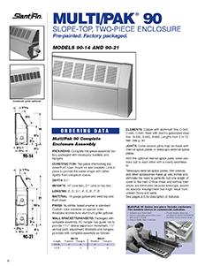 Multi pak 90 slantfin for Homeowner selection sheet