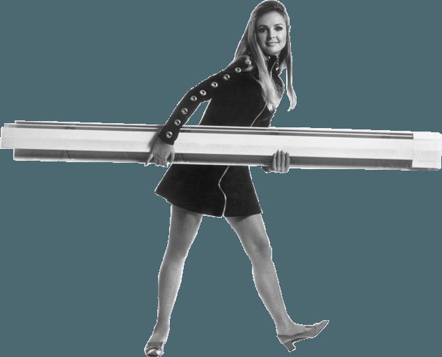 60s Slant/Fin Girl